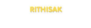 Der Vorname Rithisak
