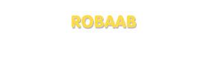 Der Vorname Robaab
