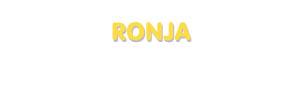 Der Vorname Ronja