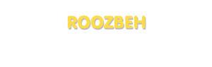 Der Vorname Roozbeh