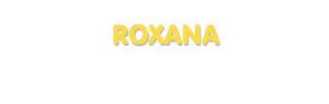 Der Vorname Roxana