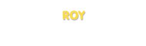 Der Vorname Roy