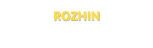Der Vorname Rozhin