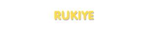 Der Vorname Rukiye