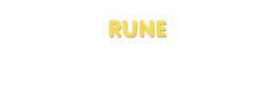 Der Vorname Rune