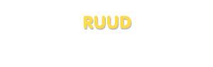 Der Vorname Ruud