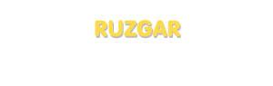 Der Vorname Ruzgar