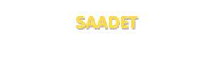 Der Vorname Saadet