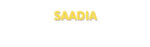 Der Vorname Saadia