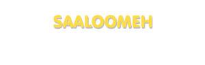 Der Vorname Saaloomeh