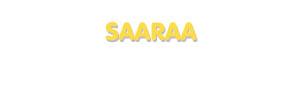 Der Vorname Saaraa