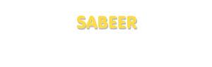 Der Vorname Sabeer