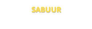 Der Vorname Sabuur