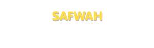 Der Vorname Safwah