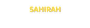 Der Vorname Sahirah