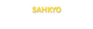 Der Vorname Sahkyo