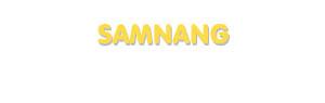 Der Vorname Samnang