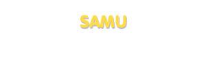 Der Vorname Samu
