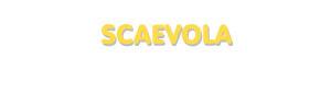 Der Vorname Scaevola
