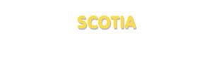 Der Vorname Scotia