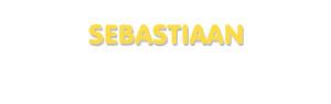 Der Vorname Sebastiaan