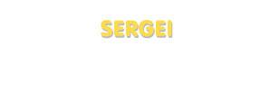 Der Vorname Sergei