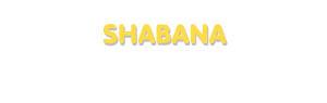 Der Vorname Shabana