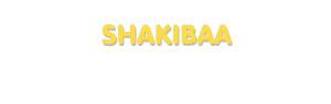 Der Vorname Shakibaa