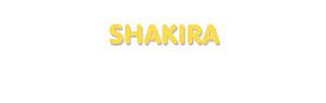 Der Vorname Shakira