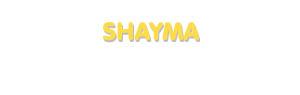 Der Vorname Shayma