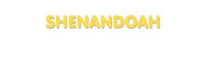Der Vorname Shenandoah