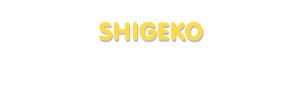 Der Vorname Shigeko