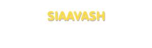 Der Vorname Siaavash