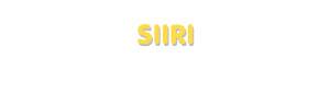 Der Vorname Siiri