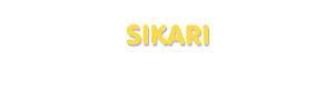 Der Vorname Sikari