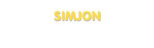 Der Vorname Simjon