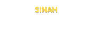 Der Vorname Sinah
