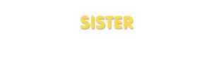 Der Vorname Sister