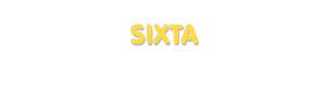 Der Vorname Sixta