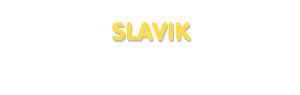 Der Vorname Slavik