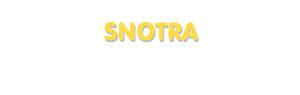 Der Vorname Snotra