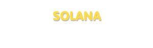 Der Vorname Solana