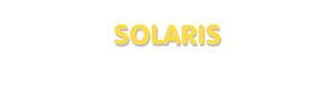 Der Vorname Solaris