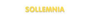 Der Vorname Sollemnia