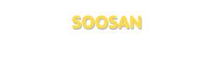 Der Vorname Soosan