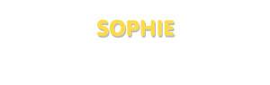 Der Vorname Sophie