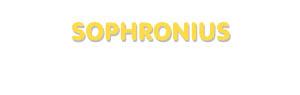 Der Vorname Sophronius