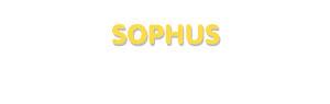 Der Vorname Sophus