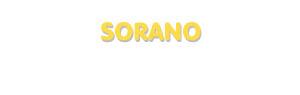 Der Vorname Sorano