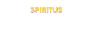 Der Vorname Spiritus
